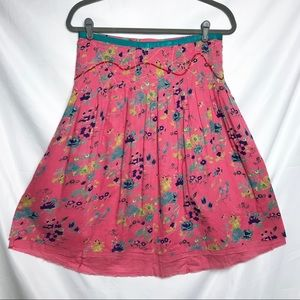 Lux Pink floral skirt